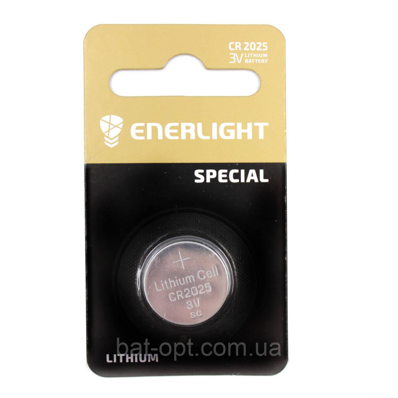 Батарейка литиевая Enerlight CR2025 Lithium 3V дисковая таблетка