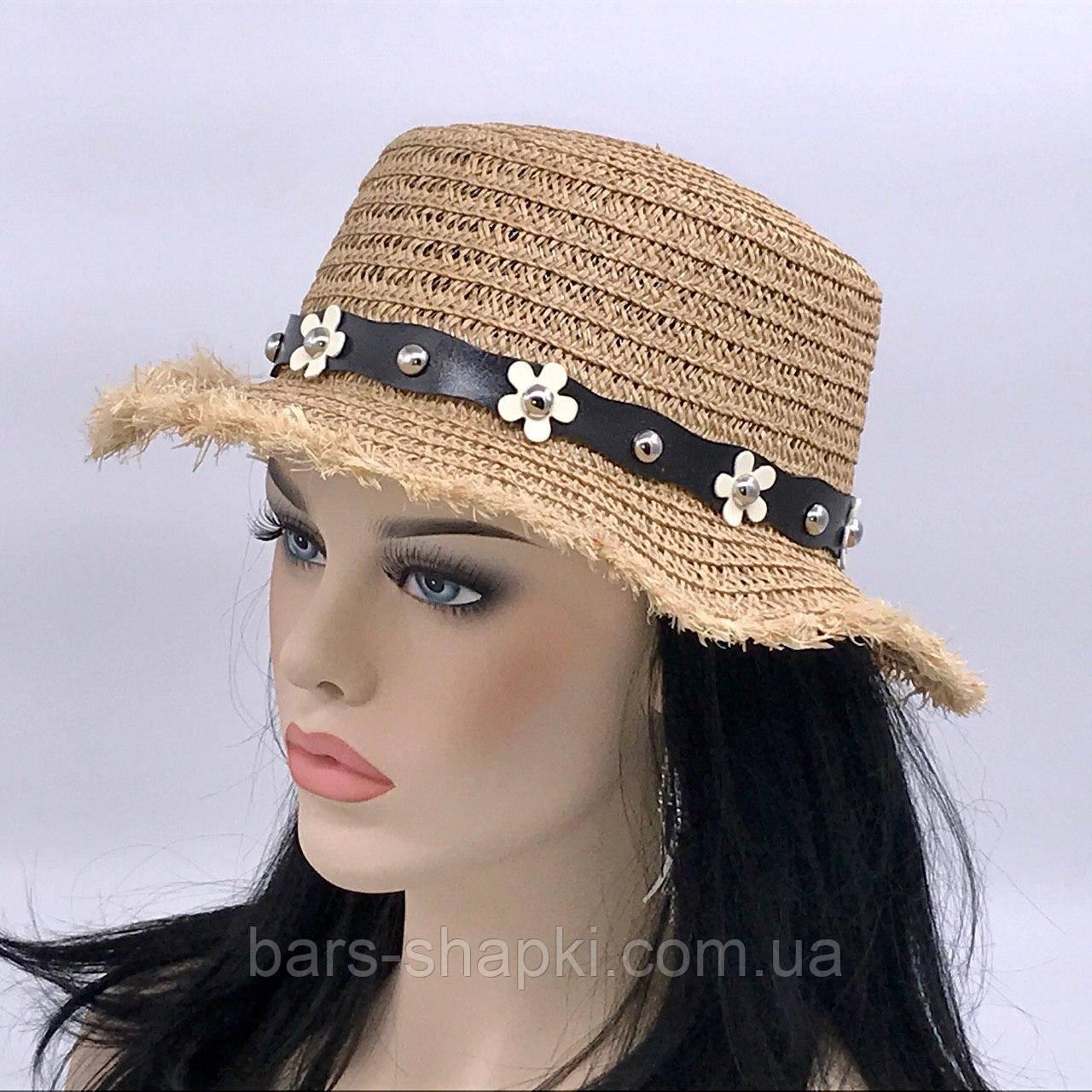 Женская шляпка (кофейная)