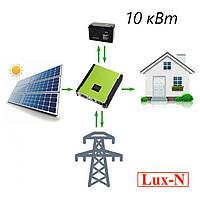 Гібридна сонячна електростанція 10 кВт, 380 В, фото 1