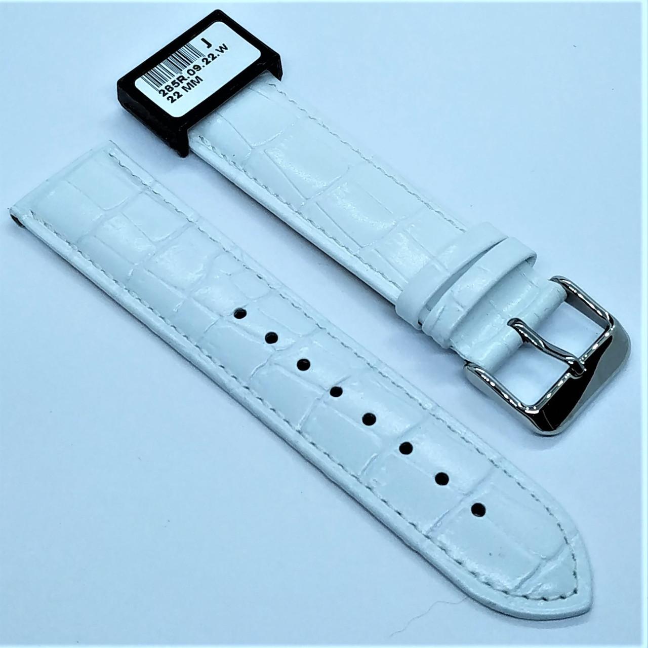 22 мм Кожаный Ремешок для часов CONDOR 285.22.09 Белый Ремешок на часы из Натуральной кожи