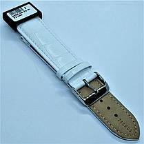 22 мм Кожаный Ремешок для часов CONDOR 285.22.09 Белый Ремешок на часы из Натуральной кожи, фото 3