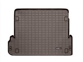 Ковер резиновый WeatherTech Toyota LC150 2009-2018 в багажник какао (для 3-х зонного климата) c 3-м рядом