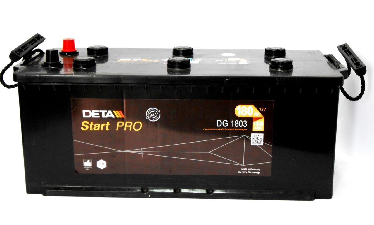 Аккумулятор грузовой DETA Start PRO 180 Ач 12В 1000 А 518*240*242 Германия