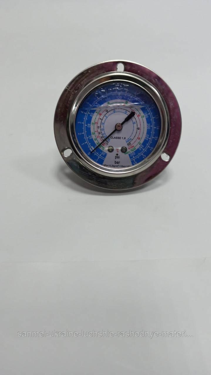 Манометр низкого давления, глицериновый панельный 250B-GF (R-22/134/410)