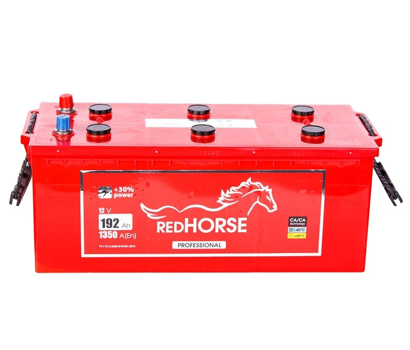 Автомобильный аккумулятор грузовой RED HORSE Professional 12 V 6СТ-192 Ah АзЕ 1350A Украина