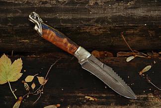 """Охотничий нож ручной работы """"From dusk to dawn"""", из дамаска, фото 2"""