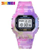 Skmei 1627 фіолетові жіночі спортивні годинник
