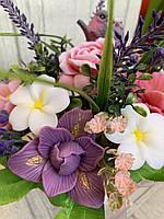 Букет весенний из ирисов, роз,пионов из мыла
