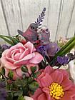 Букет весенний из ирисов, роз,пионов из мыла, фото 2
