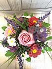 Букет весенний из ирисов, роз,пионов из мыла, фото 3