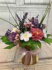 Букет весенний из ирисов, роз,пионов из мыла, фото 5