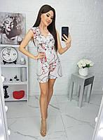 Комбинезон женский, шортами, с кармашками, короткий Меланж, фото 1