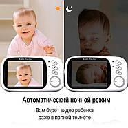 Видеоняня с большим цветным 3.2 дисплеем и дистанционным управлением JETIX VB603, фото 6