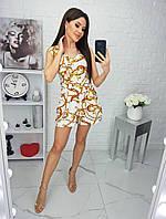 Комбинезон женский, шортами, с кармашками, короткий Белый, фото 1