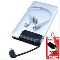 Power Bank Внешний аккумулятор 12400мАч USB+MicroUSB ЖК Reddax RDX-220