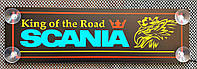 """Светодиодная (LED) табличка """"Scania"""", 24 В, 500 х 150 мм., фото 1"""