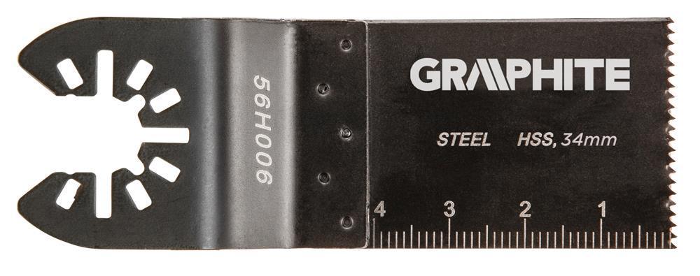 Полотно плоское к многофункц. инструменту,Graphite HSS по металлу, 34 мм