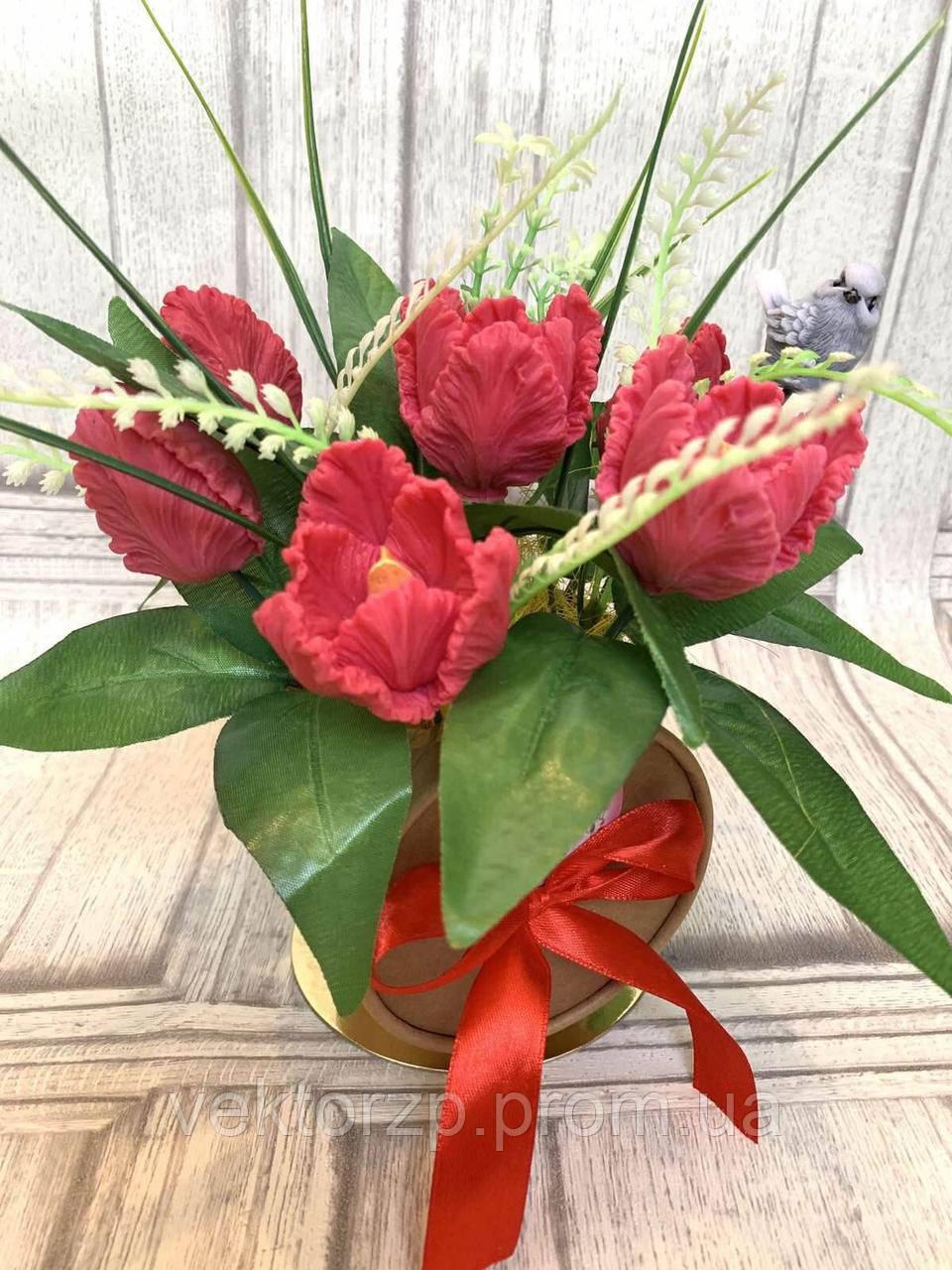 Букет из мыла тюльпаны