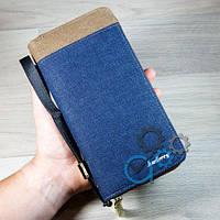 Клатч S.K-3003-0090  Blue   Brown