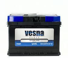 Автомобильный аккумулятор VESNA Power 6СТ-60Ah АзЕ 600A (R+) Словения