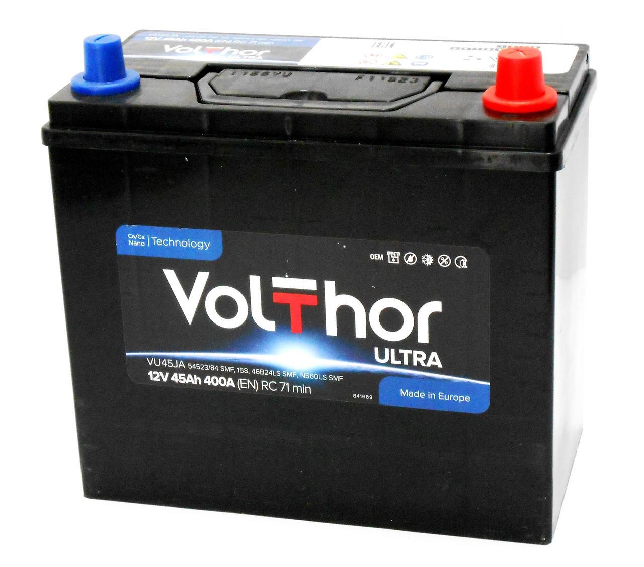 Аккумулятор автомобильный VOLTHOR Asia 6СТ 45 Ач (R+) 400 А  Словения