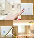 Умный Сенсорный Трехканальный Выключатель Wi-Fi с управлением голосом (Alexa/Google Home) Android / IOS, фото 2