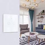 Умный Сенсорный Трехканальный Выключатель Wi-Fi с управлением голосом (Alexa/Google Home) Android / IOS, фото 8