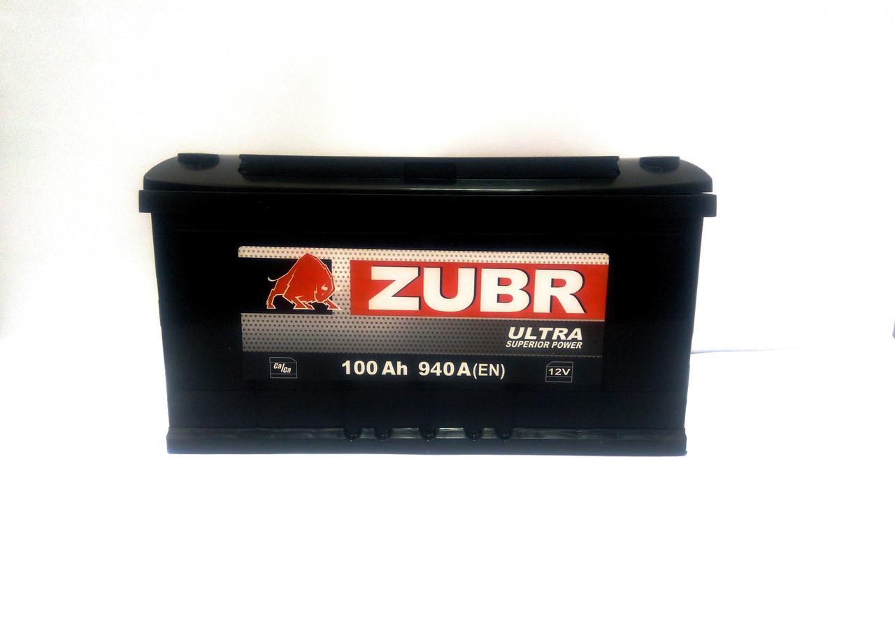 Аккумулятор автомобильный ZUBR Ultra 6-СТ 100 Ач (R+) 940A 2 года горан Белорусь