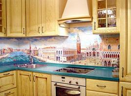 Скляний кухонний фартух (фото панно) купити в Криму