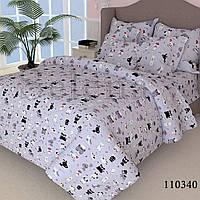Комплект постельного белья Selena Собачки 110340 Полуторный комплект Серый, Двуспальный комплект