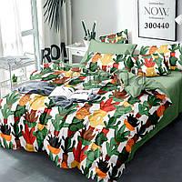 Комплект постельного белья Selena Цветные кактусы 300440 Полуторный комплект