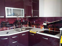 Стеклянная стеновая панель для кухни купить в Ялте