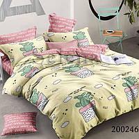 Комплект постельного белья Selena Кактус домашний 200246 Полуторный комплект