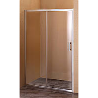 SH-120AC, душові двері Sansa, 120 х 185 см, рама brushed, скло 6 мм