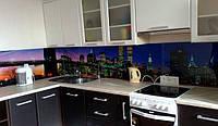 Стеклянная стеновая панель для кухни город купить в Кривом Роге