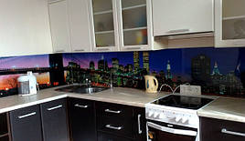 Стеклянный кухонный фартук город купить в Кривом Роге
