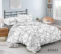Комплект постельного белья Selena Танго линий поплин 420103 Полуторный комплект Двуспальный евро комплект