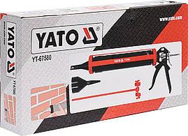 Пистолет для затирки швов со сменными насадками YATO YT-67580, фото 3