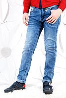 Джинсовые подростковые брюки на мальчика весна-осень