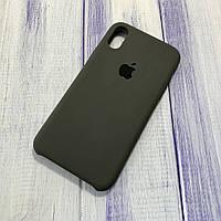 Чехол Silicone Case Apple iPhone X/Xs Carbon Gray