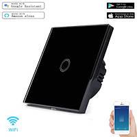 Умный Сенсорный Одноканальный Выключатель Wi-Fi с управлением голосом (Alexa/Google Home) Android / IOS