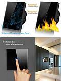 Розумний Сенсорний Двоканальний Вимикач Wi-Fi з управлінням голосом (Alexa/Google Home) Android / IOS, фото 2