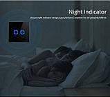 Розумний Сенсорний Двоканальний Вимикач Wi-Fi з управлінням голосом (Alexa/Google Home) Android / IOS, фото 3