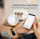 Розумний Сенсорний Двоканальний Вимикач Wi-Fi з управлінням голосом (Alexa/Google Home) Android / IOS, фото 5