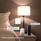 Розумний Сенсорний Двоканальний Вимикач Wi-Fi з управлінням голосом (Alexa/Google Home) Android / IOS, фото 6
