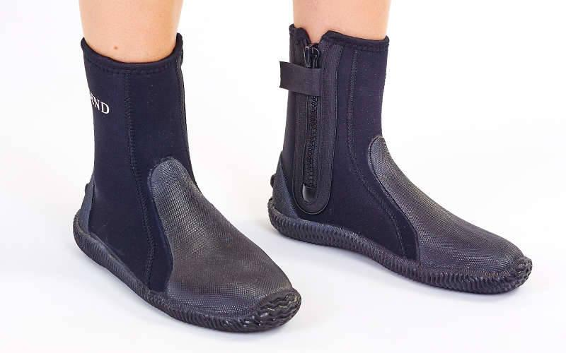 Ботинки для дайвинга LEGEND PL-DNS08 (5мм неопрен, резина, размер M-XL EU-40-45, RUS-40-44, черный)