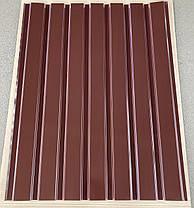 Профнастил для забору, колір: шоколад ПС-20, 0,30 мм; висота 1.5 метра ширина 1,16 м, фото 2