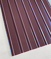Профнастил  для забора, цвет: шоколад ПС-20, 0,30мм; высота 1.5 метра ширина 1,16 м, фото 3