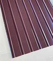 Профнастил для забору, колір: шоколад ПС-20, 0,30 мм; висота 1.5 метра ширина 1,16 м, фото 3