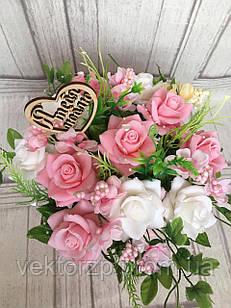 Шикарный букет роз из мыльных цветов, цветы из мыла